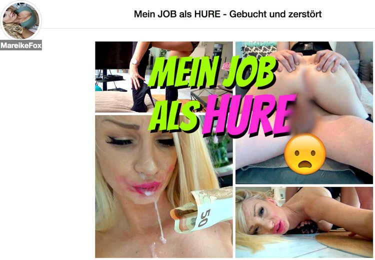Mareike Fox als Hure! Pervers geiles Video!